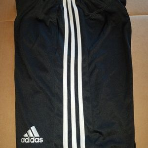 Men's Adidas 3 stripe climalite shorts, Black, S